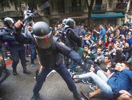 Espana policia cataluna referendum