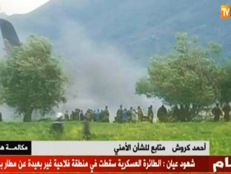 Argelia accidente avion