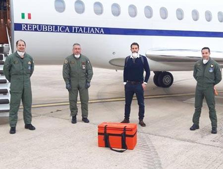 Turquia avion italia donante nino