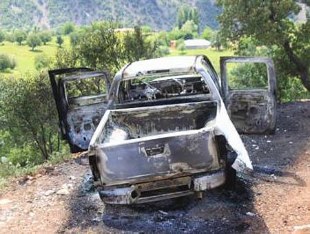 Camion quemado pkk