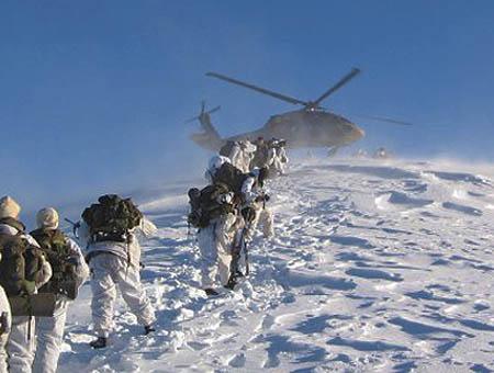 Comandos ejercito turco nieve