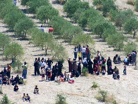 Refugiados sirios frontera