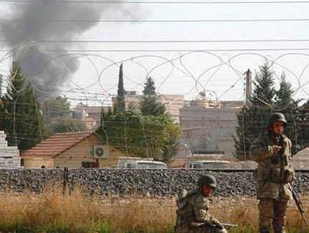 Soldados turcos frontera siria