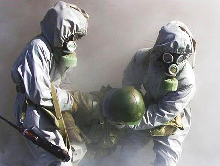 Armas quimicas trajes