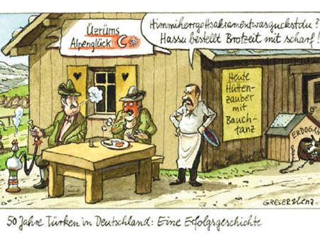 Alemania caricatura turcos