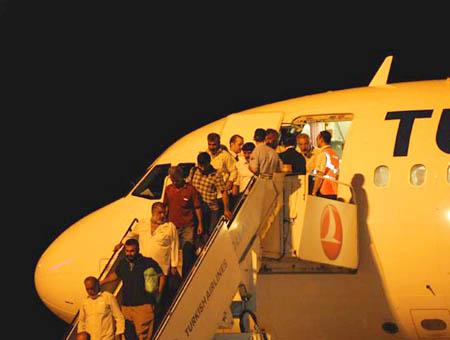 Avion turkish airlines llegada