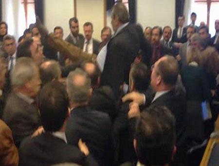 Diputados turcos pelea zeyid aslan