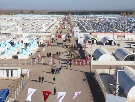 Refugiados sirios campo