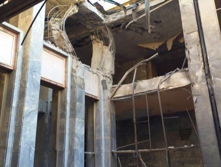Imagen del parlamento turco, bombardeado por primera vez en la historia de Turquía por los golpistas en la noche del viernes