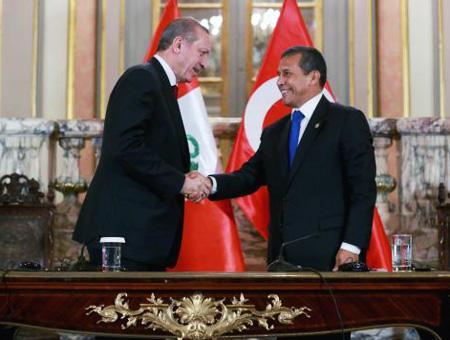 Erdoğan y Humala en Lima