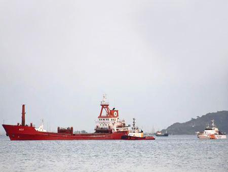 Egeo carguero act disparado