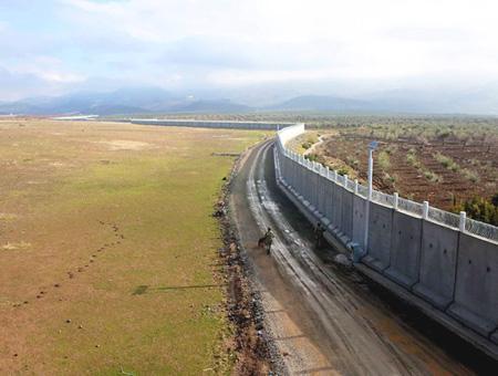 Muro frontera siria