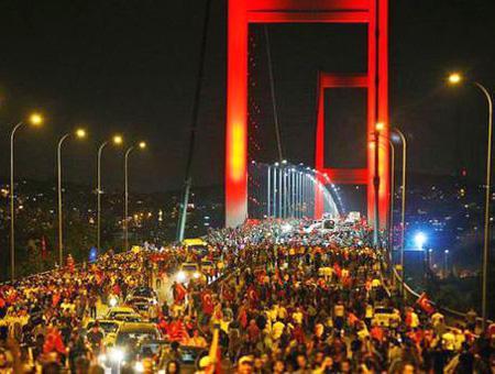 Estambul puente bosforo manifestacion
