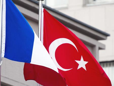 Francia turquia banderas