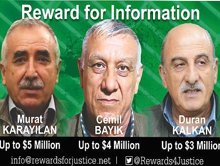 Pkk lideres terroristas recompensa