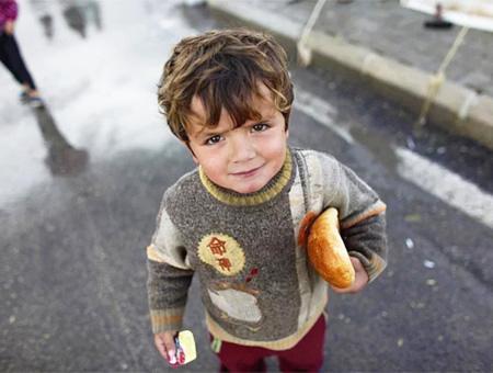Refugiado sirio nino