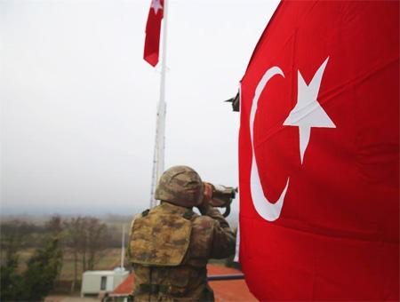 Soldado turco frontera