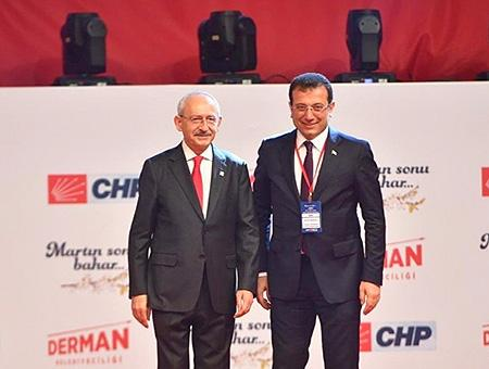 El líder del CHP, Kemal Kılıçdaroğlu (izquierda), junto a Ekrem İmamoğlu en un mitin