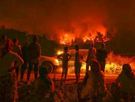 Izmir incendio bosques karabaglar