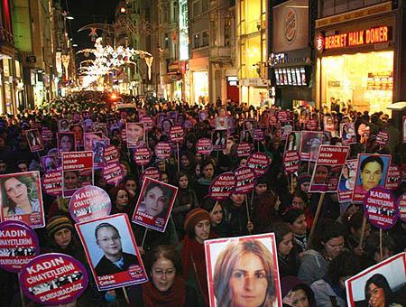 Manifestacion violencia mujer