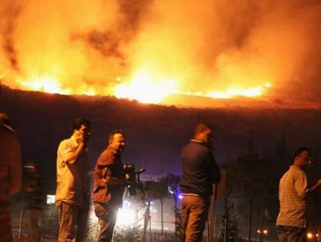 Explosion fuego afyonkarahisar