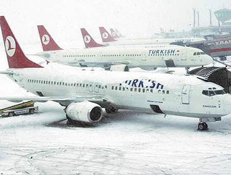 Thy aeropuerto nieve