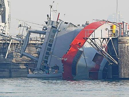 Barco volcado izmir