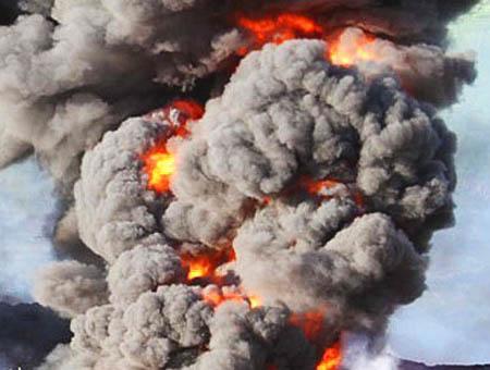 Explosion fuego