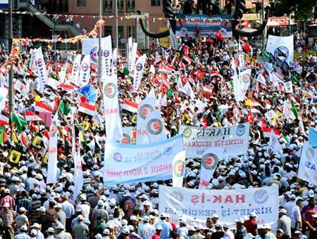 Manifestacion ankara egipto