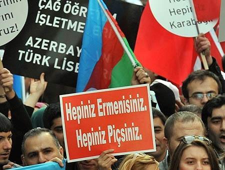 Protesta armenia pancarta