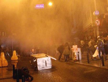 Protestas taksim policia