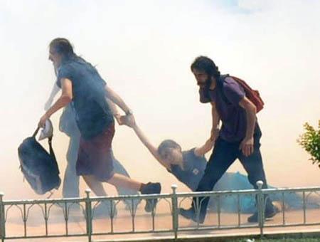 Taksim protesta gas lacrimogeno