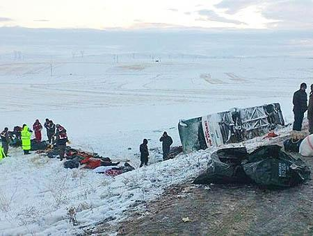 Accidente autobus kayseri