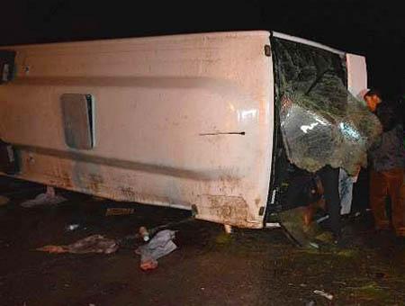Accidente autobus kirsehir