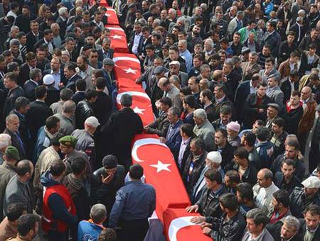 Funeral victimas turquia