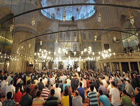 Mezquita fieles