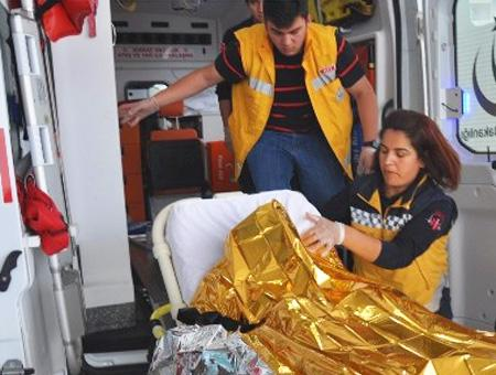Ambulancia victima cadaver