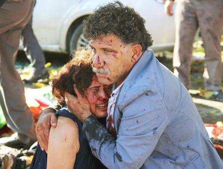 Ankara atentados foto heridos
