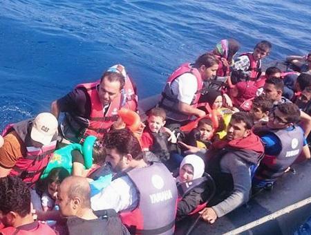Egeo refugiados sirios