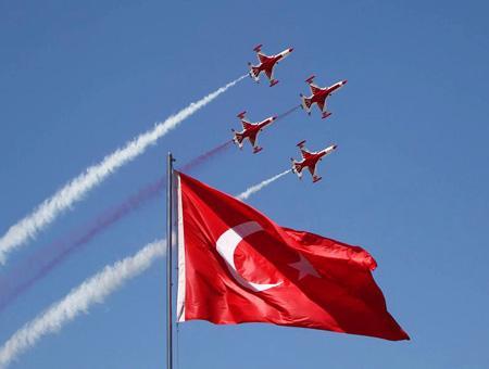 Exhibicion aerea turk yildizlari