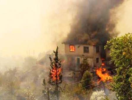 Antalya incendio forestal