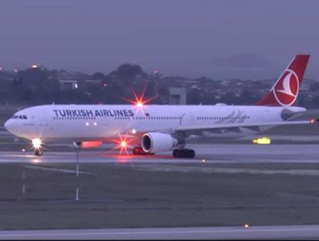 Avion turkish airlines pista