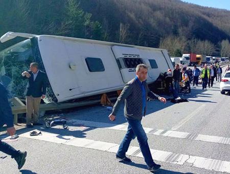 Bursa accidente autobus