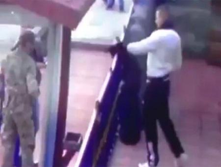 Erzincan soldado agresion gato
