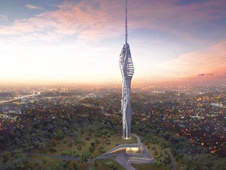 Estambul torre kucuk camlica