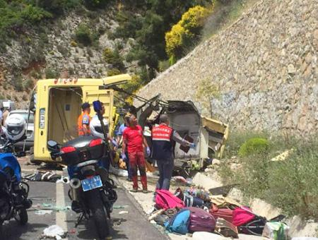 Mugla accidente autobus