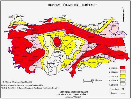 Turquia mapa riesgo sismico