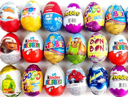 Alimentacion huevos sorpresa kinder