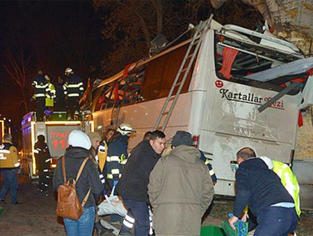 Al menos 11 muertos en un accidente de autobús en el noroeste de Turquía
