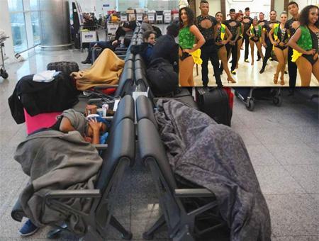 Estambul aeropuerto grupo baile colombia